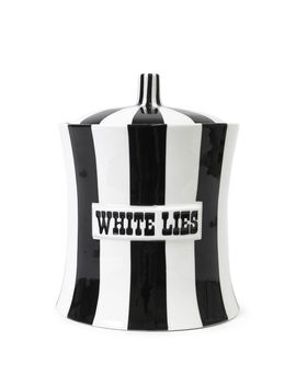 White Lies Canister by Jonathan Adler