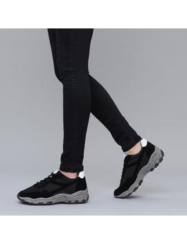 Black And White Ugly Trainers by Koi Footwear