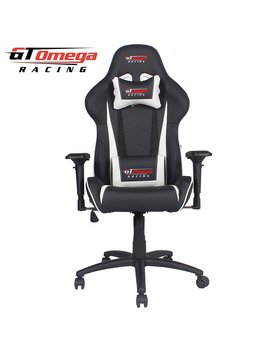 Gt Omega Pro Racing Office Chair Black Next White Leather by Amazon