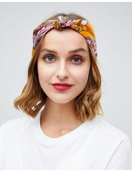 Asos Design Headband In Vintage Scarf Print by Asos Design