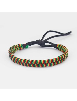 A Rasta Friendship Bracelet Wristband Cotton Silk Reggae Jamaica Surfer Boho by Sun Moon