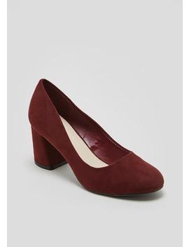 Round Toe Block Heels by Matalan