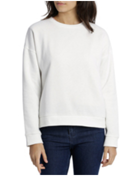 Long Sleeve Basic Crew Neck Sweat by Miss Shop Essentials