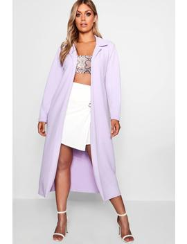 Plus Crepe Longline Duster by Boohoo