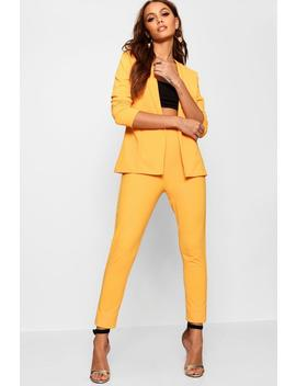 Crepe Fitted Suit by Boohoo