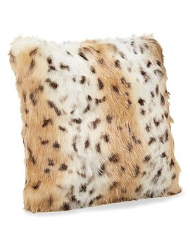 Snow Leopard Faux Fur Throw Pillow by Donna Salyers' Fabulous Faux Furs