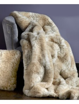 Lynx Faux Fur Throw by Donna Salyers' Fabulous Faux Furs