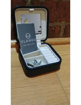 Vlando Small Portable Travel Jewelry Box, Gift For Wedding & Party by Vlando