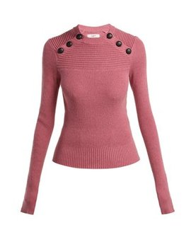 Koyle Buttoned Cotton And Wool Blend Sweater by Isabel Marant Étoile