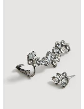 Asymmetrische Ohrringe Mit Kristallsteinen by Mango