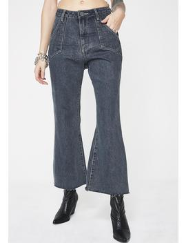 Libertines High Waist Cropped Wide Leg Jeans by One Teaspoon
