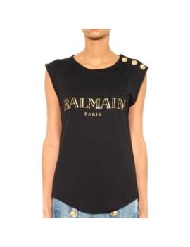 Balmain Print Logo Tank by Balmain