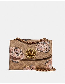 Parker 18 In Embellished Signature Rose Print by Coach