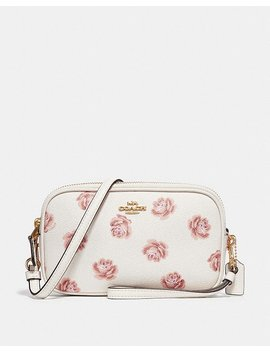Crossbody Clutch With Rose Print by Coach
