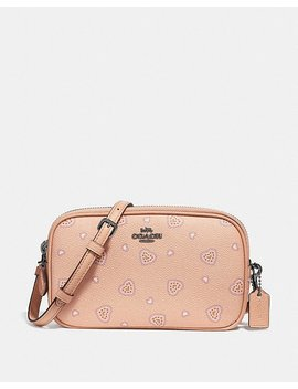 Crossbody Clutch With Western Heart Print by Coach