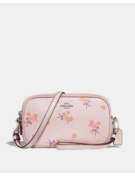 Crossbody Clutch With Floral Bow Print by Coach