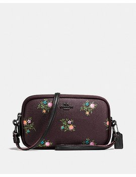 Crossbody Clutch With Cross Stitch Floral Print by Coach