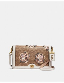 Riley Crossbody In Embellished Signature Rose Print by Coach