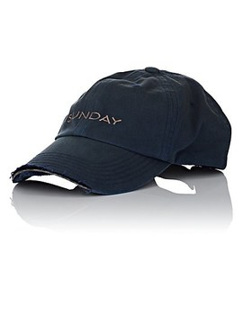 """Sunday"" Weekday Cotton Cap by Vetements"