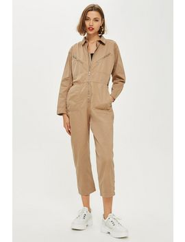 Utility Full Length Boiler Suit by Topshop