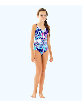 Upf 50+ Girls Mals Swimsuit by Lilly Pulitzer