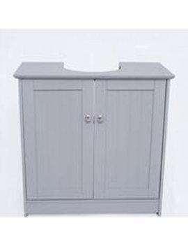 Alaska 600 Vanity Unit 2 Doors Grey by Wilko