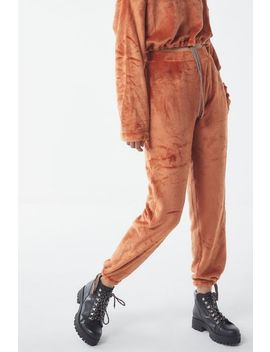 Uo Angela Soft Fleece Jogger Pant by Urban Outfitters