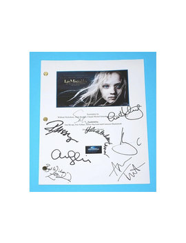 Les Miserables 2012 Movie Screenplay Script Autographed: Hugh Jackman, Anne Hathaway, Russell Crowe, Amanda Seyfried, Sacha Baron Cohen by Hollywoodfinds