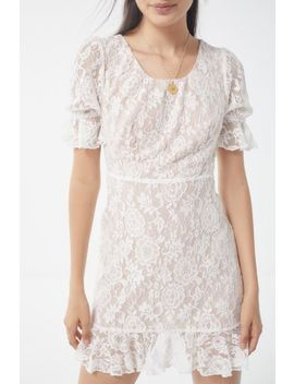 Lioness Lace Babydoll Mini Dress by Lioness