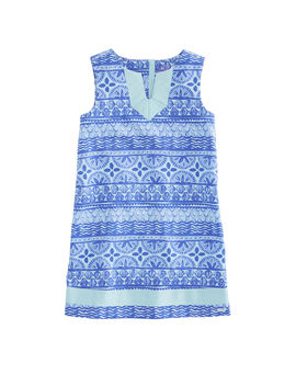Girls Shell All Over Stripe Dress by Vineyard Vines