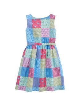 Girls Original Patchwork Tie Dress by Vineyard Vines