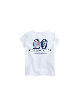 Girls Short Sleeve Original Patchwork Whale Pocket Tee by Vineyard Vines