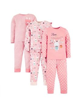 Mini Club 3 Pack Pyjama by Mini Club