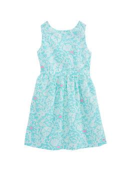 Girls Sealife Gingham Dress by Vineyard Vines