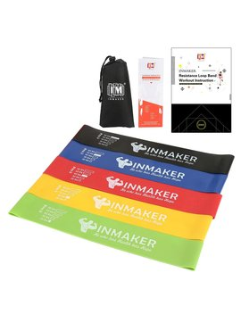 Inmaker Resistance Bands For Women And Men, Exercise Bands For Legs And Glutes, Set Of 5, Free Workout E Book, Carry Bag, Online Videos And Manual by Amazon