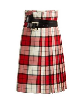 Wallace Tartan Wool Skirt by Charles Jeffrey Loverboy