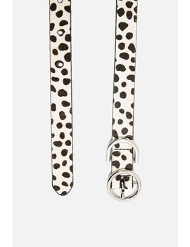 Spotted Skinny Belt by Topshop