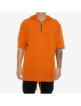 Saint Morta 3/4 Sleeve Zip Hoodie Mud Orange by Saint Morta