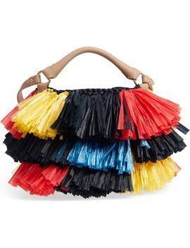 Raffia Fringe Bucket Bag by Diane Von Furstenberg