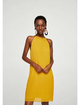 Vestido Textura Folho by Mango