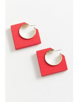 Aster Wood Hoop Earring by Urban Outfitters