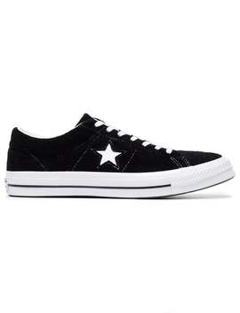 Black One Star Suede Sneakers by Converse