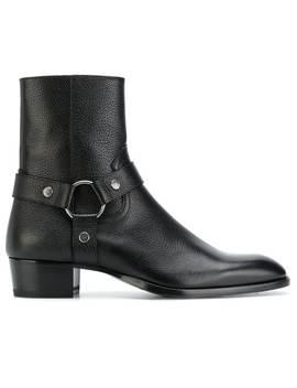 Saint Laurent Wyatt 40 Harness Bootshome Men Saint Laurent Shoes Boots by Saint Laurent