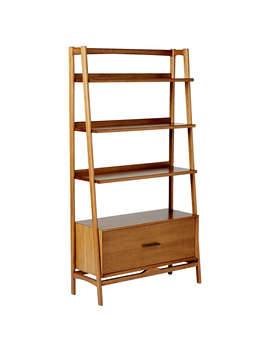 West Elm Mid Century Wide Bookshelf, Acorn by West Elm