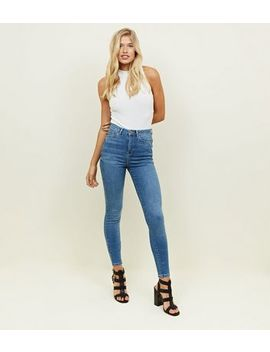 Tall Blue Super Skinny 'lift & Shape' Jeans by New Look