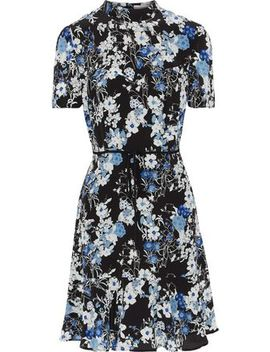 Bow Embellished Floral Print Silk Dress by Erdem