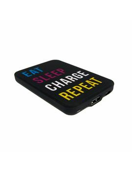 Jack & Cable Slogan Power Bank Charger Eat Sleep Charge Repeat 5000 M Ah With Usb To Micro Usb Cable For Smartphone And Tablets by Amazon