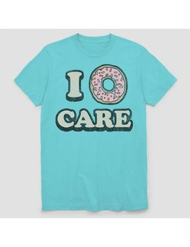 Men's I Donut Care Short Sleeve Graphic T Shirt   Light Blue by Shop All Fifth Sun