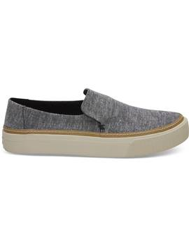 Black Chambray Women's Sunset Slip Ons by Toms