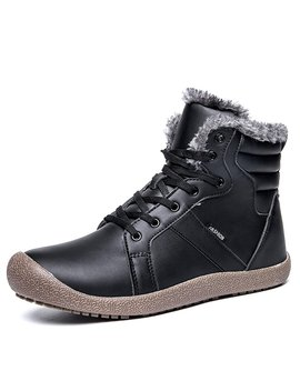 Yiruiya Mens Waterproof Snow Boots With Fully Fur Lined by Yiruiya